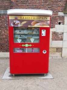 A bread vending machine.