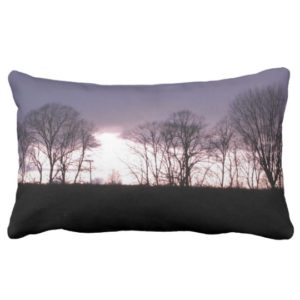 Lavender Sunset Lumbar Pillow